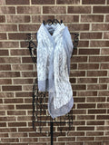 Gray & Lace Scarf
