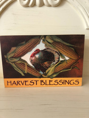 Harvest Blessings Boxed Sign