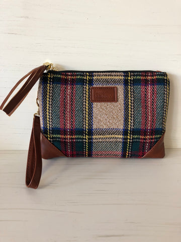 Autumn Plaid Wristlet