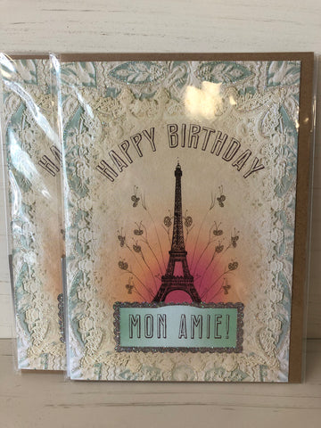 Birthday Card — Eiffel Tower