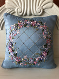 Ribbon Embroidered Pillow