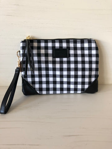 Gingham/Buffalo Check Wristlet
