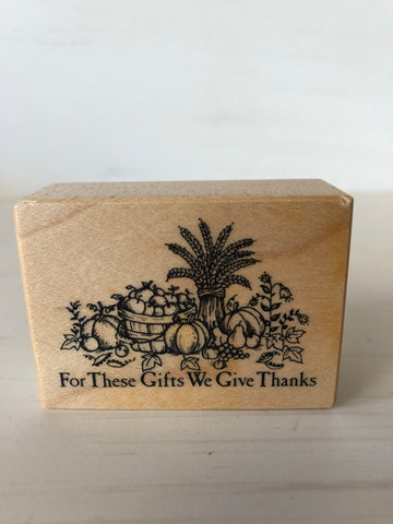 Thanksgiving Rubber Stamp