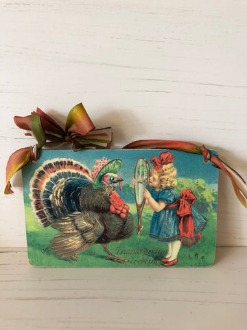 Thanksgiving Postcard Hanging