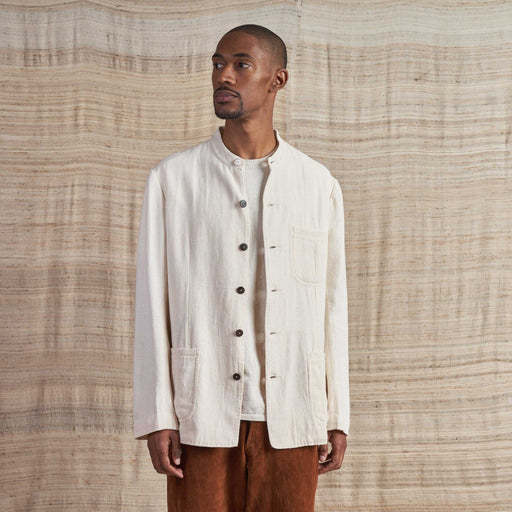 Handloomed Jacket in Undyed Organic Cotton