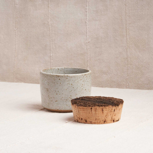 Corked Ceramic Canister