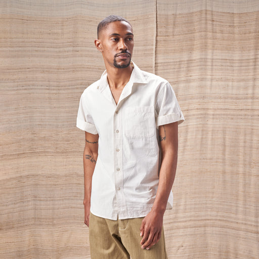Camp Collar Matty Shirt in Organic Undyed Poplin
