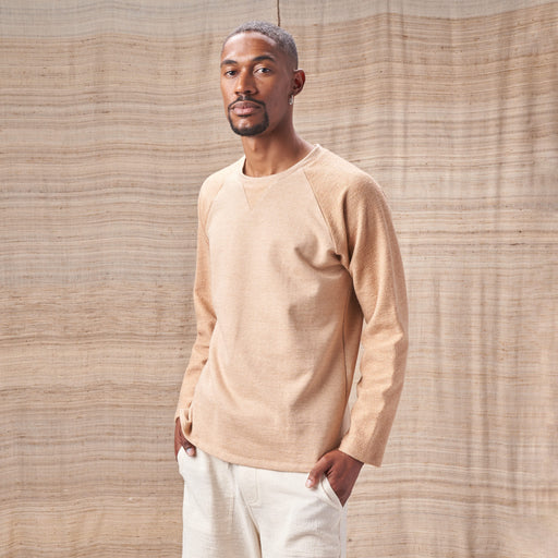 Raglan Sweatshirt in Two-Tone Colorganic® Brown French Terry