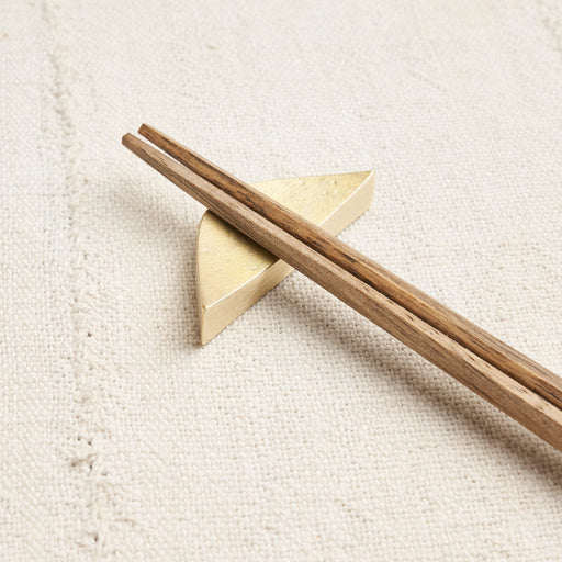 'Crescent' Brass Chopstick Rest Set