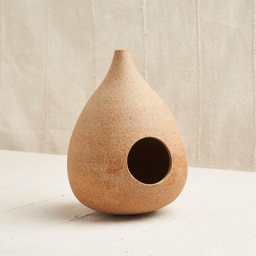 Ceramic Bird Feeder in 'Sand'