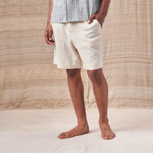 Isaac Shorts in Undyed Kala Cotton