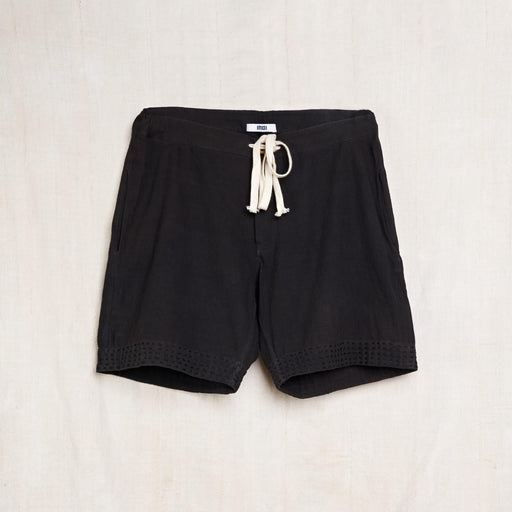 Deck Shorts in Iron Black Kala Cotton