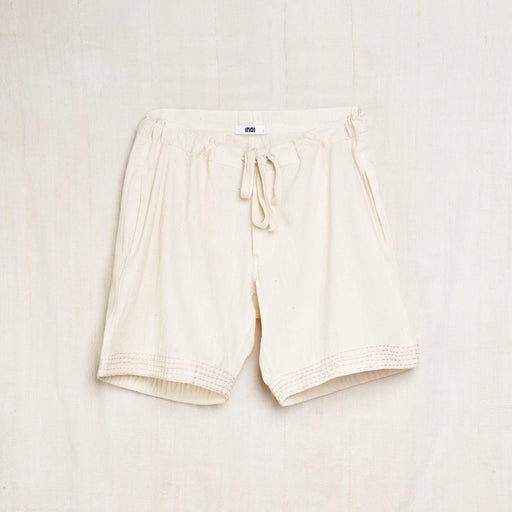 Deck Shorts in Undyed Kala Cotton