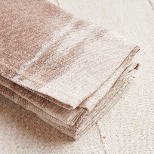 Linen Napkin in Two Tones of English Walnut
