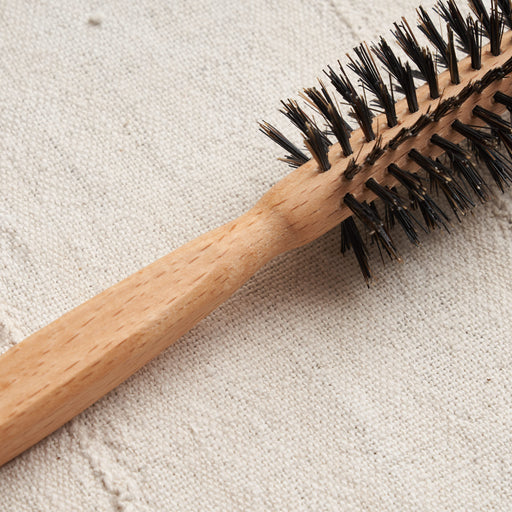 Boar Bristle Hairbrush, Full Round