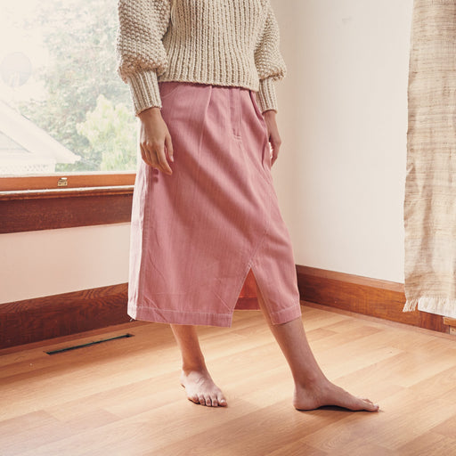 Jeannie Skirt in Sappy Pink Organic Denim