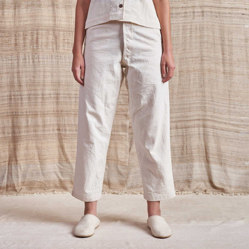 British Jeans in Undyed Organic Canvas