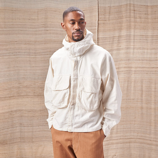 Forager Jacket in Undyed Organic Cotton Slub