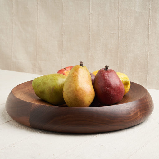Hand-Turned Fruit Bowl in Natural Walnut Wood