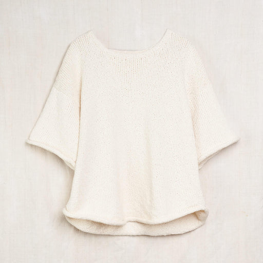 Loose Pullover Tee in Undyed Organic Cotton