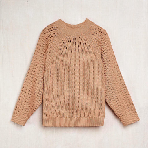Hand-Knit Sweatshirt Sweater in Undyed 'Earth' Colorganic® Cotton