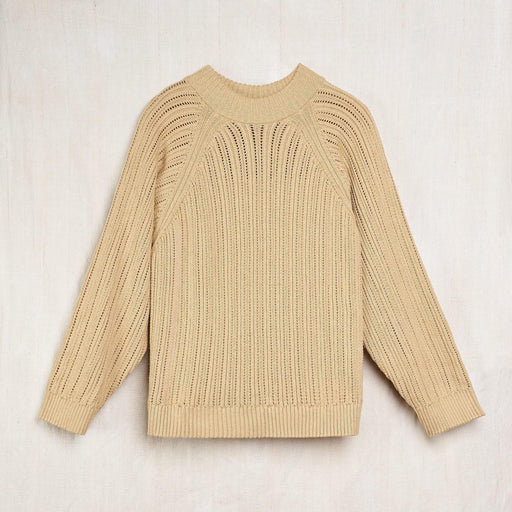 Hand-Knit Sweatshirt Sweater in Undyed 'Sage' Colorganic® Cotton
