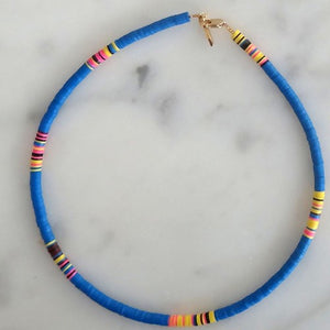 All The Must Heishi Thin Choker Necklace