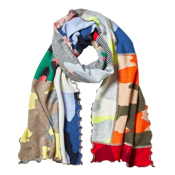 Cashmere Patch Scarf