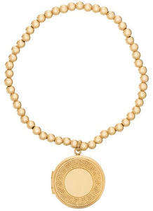 eNewton 3mm Classic Gold Bead Bracelet - Cherish Locket