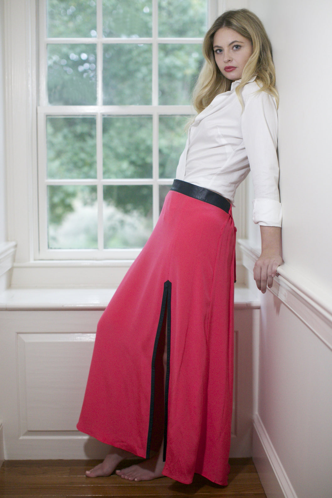 The silk REMY Maxi Skirt