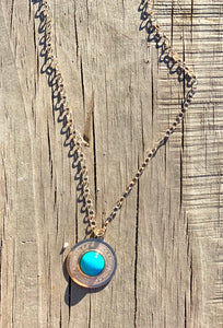 "eNewton 16"" Gold Necklace - Athena turquoise small"