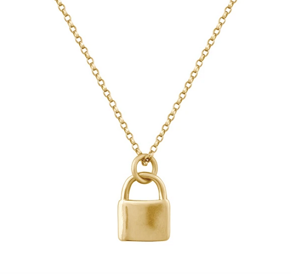 Electric Picks Padlock Necklace