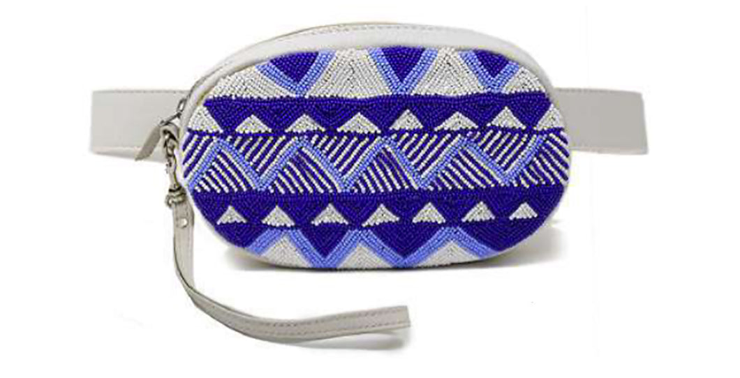 Aspiga Leather Beaded Bum Bag