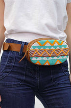 Load image into Gallery viewer, Aspiga Leather Beaded Bum Bag