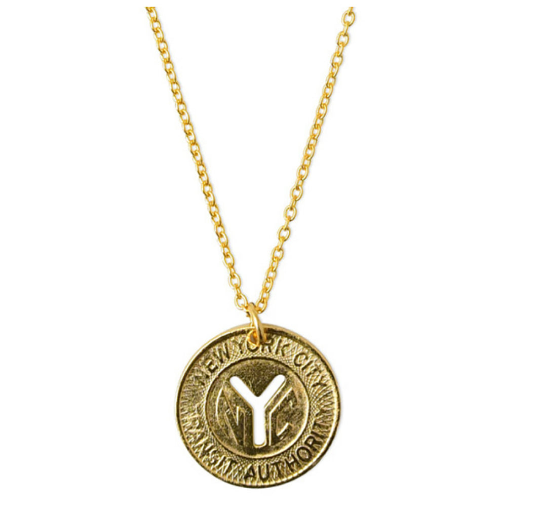 Electric Picks NYC Subway Token Necklace