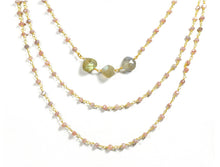 Load image into Gallery viewer, Electric Picks Twilight 3 Layer Moonstone Necklace