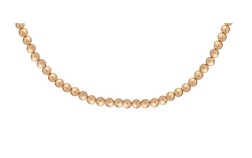 eNewton 7mm classic gold bead choker