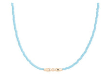 "Load image into Gallery viewer, eNewton 15"" turquoise bead Hope Choker- Angelic"