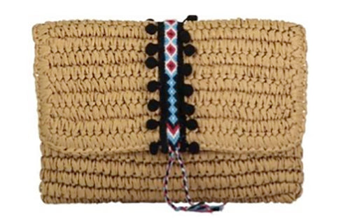 Fallon & Royce Straw Clutch