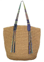Load image into Gallery viewer, Fallon & Royce Gemma Straw Tote