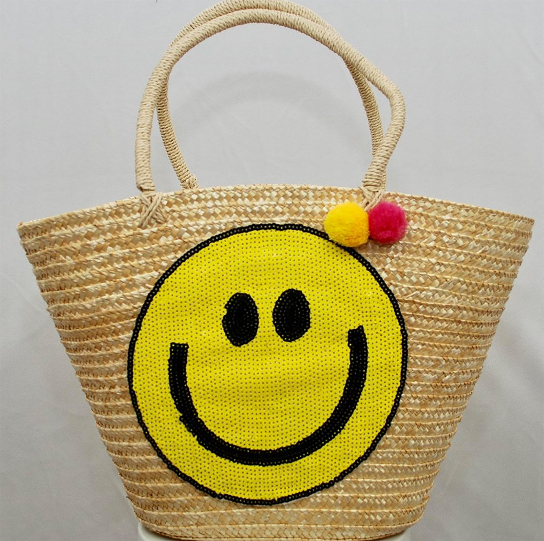 Happy Straw Bag