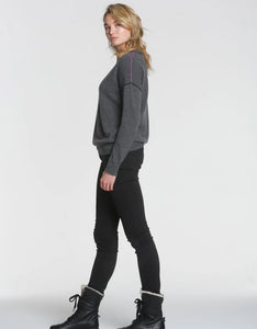 Label + Thread Mended Vee Sweater