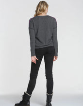 Load image into Gallery viewer, Label + Thread Mended Vee Sweater