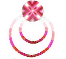 Load image into Gallery viewer, Suzanna Dai Guatemala Passementerie Double Hoop Earrings