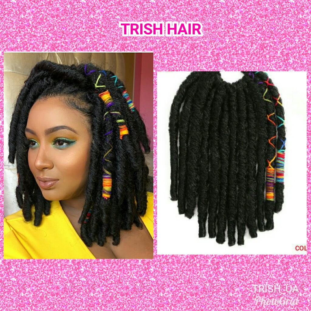Trish Hair 12inch 12strands Faux Locs Crochet Braids Hair Synthetic