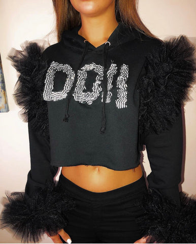 The Luxe Doll Cropped Hoodie