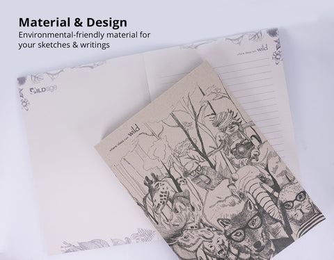 Environmental friendly materials and design notebook sketchbook WildAge