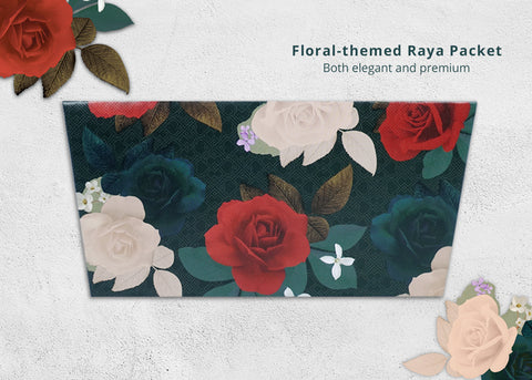 floraed theme retro raya packet
