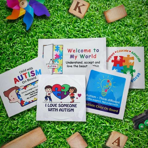 Full set of Autism Car Sticker with free delivery