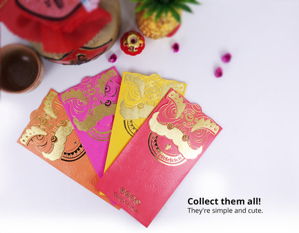 Angpau Packet | CNY Vibrant Lion Angpau Series